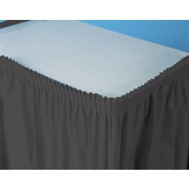 Black Velvet Table Skirts Plastic 14'
