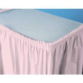 Classic Pink Table Skirts Plastic 14'