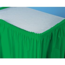 Emerald Green Table Skirts Plastic 14'
