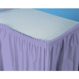 Luscious Lavender Table Skirts Plastic 14'