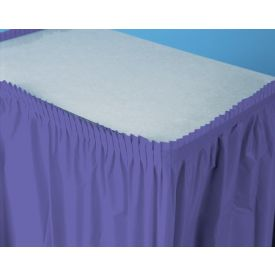 Purple Table Skirt Plastic 14'