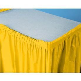 School Bus Yellow Table Skirt Plastic 14'
