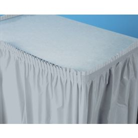 Shimmering Silver Table Skirt Plastic 14'