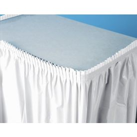 White Table Skirt Plastic 14'