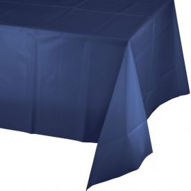 Navy Table Covers Plastic 54