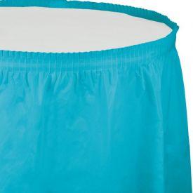 Bermuda Blue Table Skirt Plastic 14'