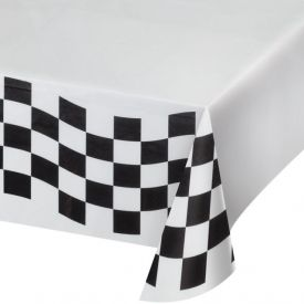 Black & White Check Table Cover, Paper 54