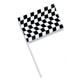 Black & White Check Flags Jumbo Plastic 23
