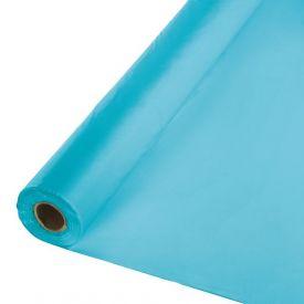 Bermuda Blue Banquet Table Roll, Plastic 100'