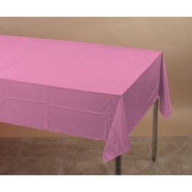 Candy Pink Table Cover, Plastic 54