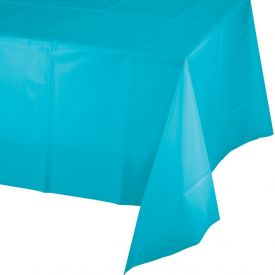 Bermuda Blue Table Covers Plastic Heavy 54