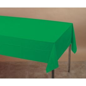 Emerald Green Table Cover, Plastic 54