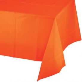 Sunkiss Orange Plastic Table Cover 54