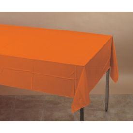 Sunkissed Orange Table Cover Plastic 54