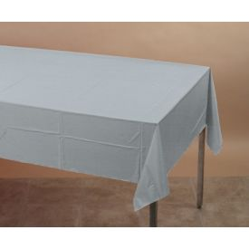 Shimmering Silver Table Cover Plastic 54