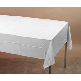 White Table cover Plastic 54