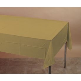 Glittering Gold Plastic Table Cover 54