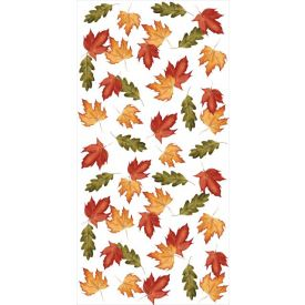 Fall Leaves Banquet Plastic Table Rolls 50'