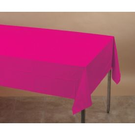 Hot Magenta Table Cover, Plastic 54
