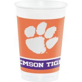 Clemson Univ Plastic Cups, 20 Oz