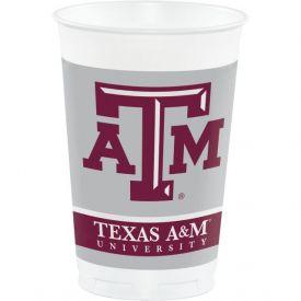 Texas A & M Univ Plastic Cups, 20 Oz