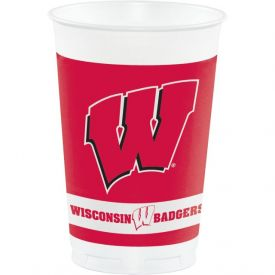 University of Wisconsin Plastic Cups, 20 Oz