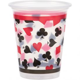 Card Night Plastic Cups, 16 Oz