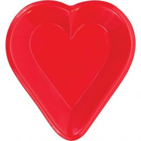 Card Night Tray, Plastic Mini Snack, Heart