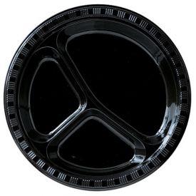 Black Velvet Banquet Plate Plastic Divided 10