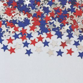 Confetti, Stars Red/Blue/Silver Metallic