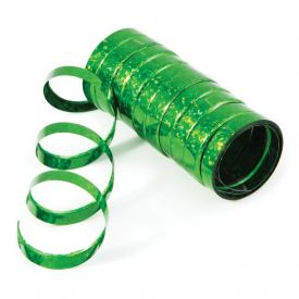 Green Serpentine Streamers Holographic
