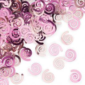 Confetti, Classic Pink Swirls
