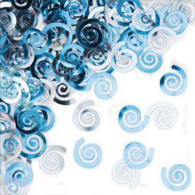 Confetti, Pastel Blue Swirls