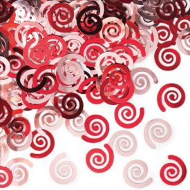 Red Swirls Confetti