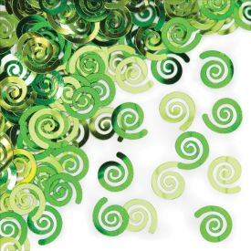Lime Swirls Confetti