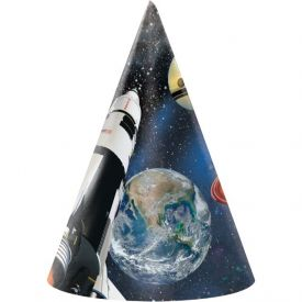 Space Blast Paper Party Hats, Child Size