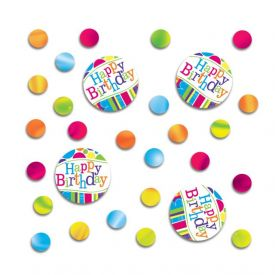 Bright And Bold Confetti, Happy Birthday