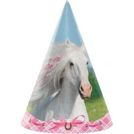 Heart My Horse Paper Party Hats, Child Size