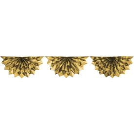 Gold Foil Bunting Garland 6.5'