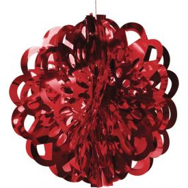 Red Diecut Foil Ball, 16