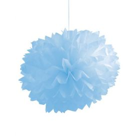 Pastel Blue Fluffy Tissue Balls 16