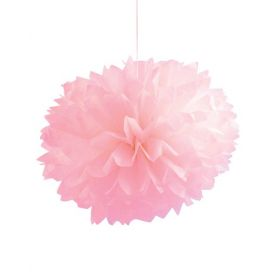 Classic Pink Fluffy Tissue Balls 16