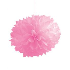 Candy Pink Fluffy Tissue Balls 16