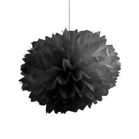 Black Fluffy Tissue Balls 16