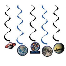 Space Blast Dizzy Danglers, w/ Cutouts