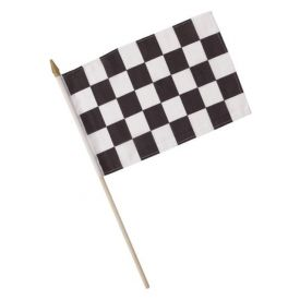 Black & White Check Cloth Flags 8