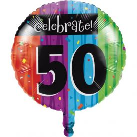 Milestone Celebrations Metallic Balloon, 50th