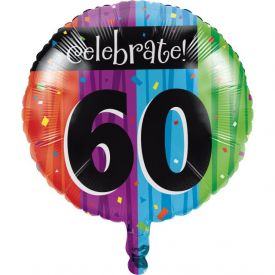 Milestone Celebrations Metallic Balloon, 60th