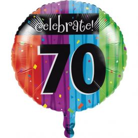 Milestone Celebrations Metallic Balloon, 70th