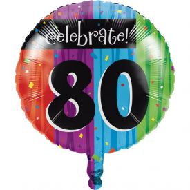 Milestone Celebrations Metallic Balloon, 80th